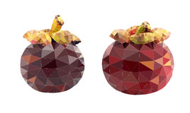 Mangosteen polygon vector Stock Photography