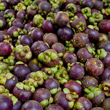 Mangosteen is a popular fruit in Thailand background texture Royalty Free Stock Images