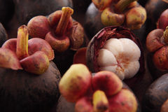 Mangosteen pulp Royalty Free Stock Images