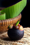 Mangosteen, Queen of fruits. Still Life mangosteens, Queen of fruits Stock Images