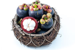 Mangosteen the queen of Thai tropical fruit Royalty Free Stock Photography