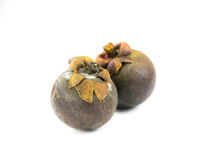 Mangosteen rotten Stock Images
