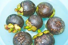 Mangosteen soak water in bowl Royalty Free Stock Images