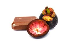 Mangosteen and soap from Mangosteen Stock Photography