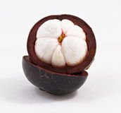 Mangosteen Thai tropical fruit. A Mangosteen Thai tropical fruit Royalty Free Stock Images