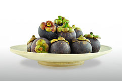 Mangosteen:tropical fruit Royalty Free Stock Photos