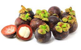 Mangosteens fruit Stock Photo