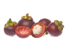 Mangosteens Isolated Stock Photography