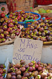 Mangosteens in the Market Stock Photos