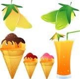 mangotema royaltyfri illustrationer
