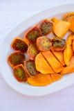 Mangowej i kłującej bonkrety kaktusa owoc sałatka Zdjęcie Stock