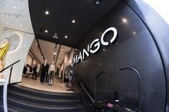 Mangowinkel in Gran via Madrid, 11 Maart, 2018 spanje Royalty-vrije Stock Foto