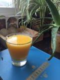 Mangowy Bananowy Smoothie Fotografia Royalty Free