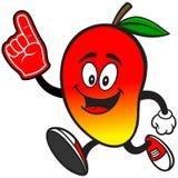 Mangowy bieg z piana palcem ilustracji