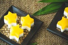 Mangowy i Kokosowy agaru agar Obrazy Stock