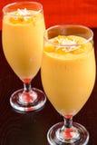 Mangowy Milkshake Fotografia Royalty Free