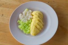mangowy ryżowy kleisty Zdjęcia Royalty Free