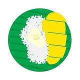 mangowy ryżowy kleisty Zdjęcia Stock