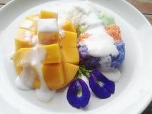 mangowy ryżowy kleisty Fotografia Stock