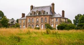 Mangårdsbyggnad i Normandie, Rouen, Frankrike Royaltyfria Bilder