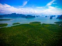 Mangrove island stock photography