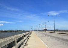 Mangrove lifestyle. Road traffic on the sea coast Stock Photography