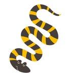 Mangrove snake. Flat cartoon vector illustration Stock Image