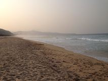 Mangsang plaża Obrazy Stock