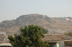 Mangu hill. This hill is located in plateau state Royalty Free Stock Photography