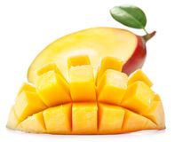 Mangue avec des parts photo stock
