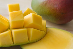 Mangue coupée en tranches Photographie stock