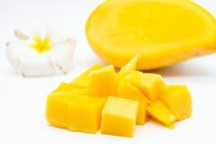 Mangue coupée en tranches Photographie stock libre de droits