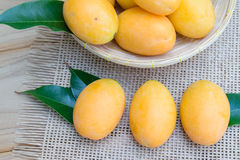 Mangue de prune, ou fruit marial de prune Images stock