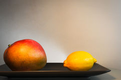 Mangue et citron Photo stock