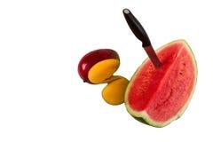 Mangue et eau mellon Photo libre de droits