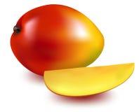 Mangue mûre avec la part de mangue. Photographie stock libre de droits