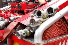 Mangueira da boca de incêndio de fogo Fotos de Stock Royalty Free