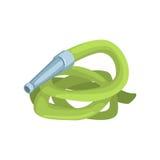 Manguera de jardín verde, ejemplo del vector de la historieta de la herramienta de la agricultura Fotos de archivo libres de regalías