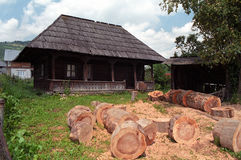 Manguito de madera Foto de archivo