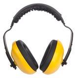 Manguitos amarillos del oído Foto de archivo libre de regalías