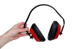 Manguitos protectores del oído Foto de archivo libre de regalías