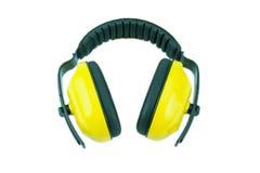 Manguitos protectores del oído aislados Foto de archivo libre de regalías
