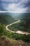 Mangunan flod Yogyakarta Indonesien Arkivbild
