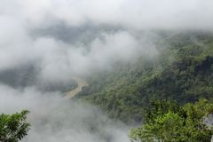 Mangunan Misty View Stockbilder