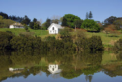 Mangungu Mission House - Hokianga Harbour Royalty Free Stock Image