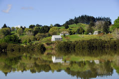 Mangungu Mission House - Hokianga Harbour Royalty Free Stock Photo