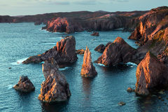 Mangurstadh sea stacks Royalty Free Stock Photography