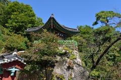 Mangwolsatempel, het Nationale Park van Dobongsan, Seoel, Korea royalty-vrije stock foto's