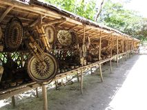 Mangyan traditional wares offered for sale Royalty Free Stock Images