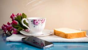 A manhã é perfeita para seu café favorito, imagem de stock